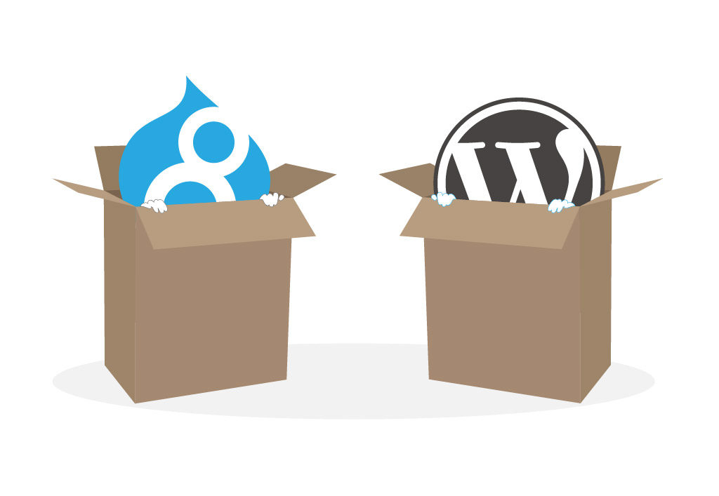 Drupal vs. WordPress Out of the Box