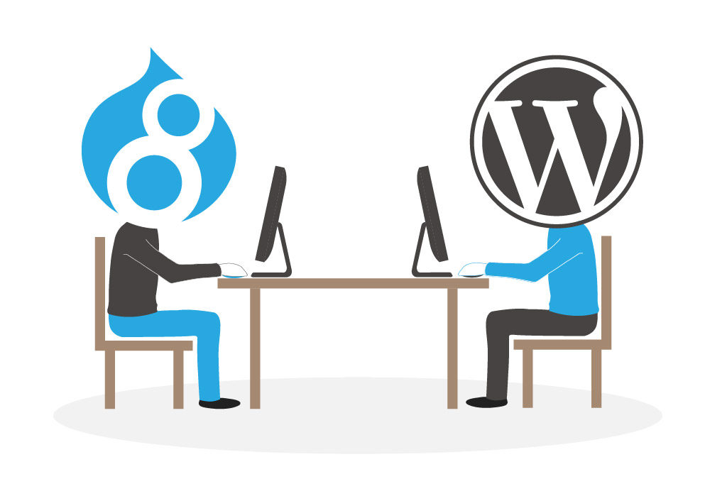 Drupal vs. WordPress User Interface
