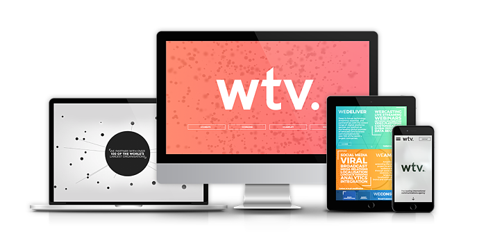 wtv. brand redesign screens